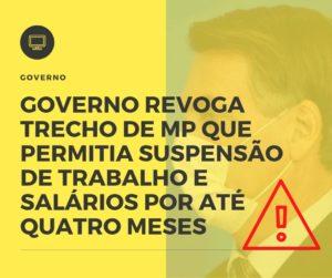 Governo Revoga Trecho De Mp Que Permitia Suspensão De Trabalho E Salários Por Até Quatro Meses Nfp Contabilidade - NFP Contabilidade