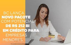 Bc Lanca Novo Pacote Com Potencial De R 212 Bi Em Credito Para Empresas Menores - NFP Contabilidade